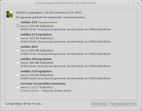Stuurprogrammabeheerder-Mint-Mate