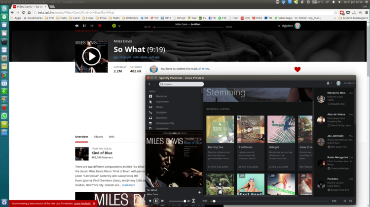 screenshot beta last.fm