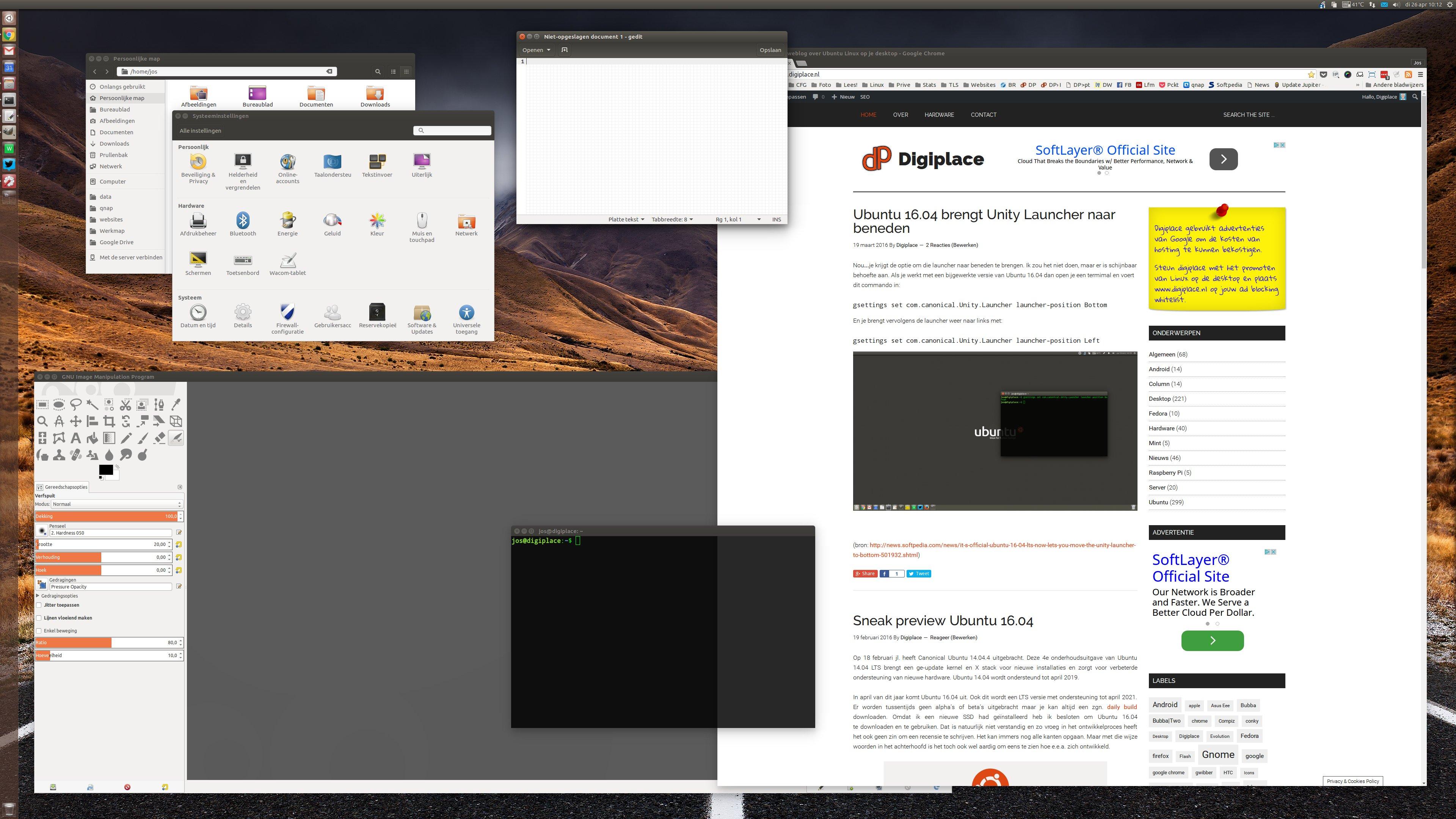 Digiplace een weblog over ubuntu linux op je desktop - Kiezen werkoppervlak ...