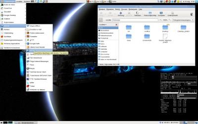 Desktop met liberation font en Oxygen Refit icoon thema