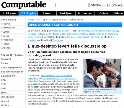 Uitstekende discussie over Linux op de desktop