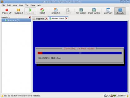 VMware - JeOS onder Ubuntu Hardy AMD64