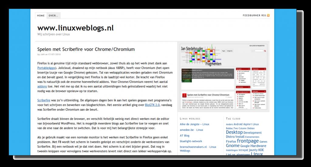 Linuxweblogs is vernieuwd