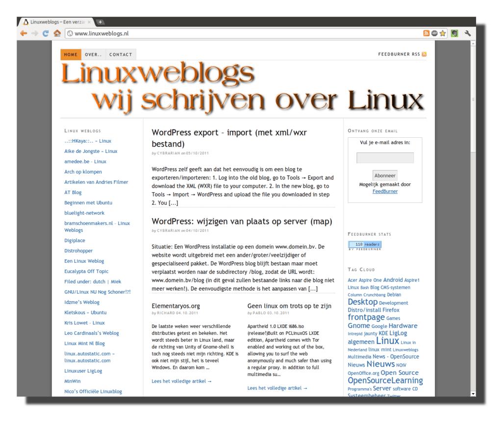 Kleine makeover voor Linuxweblogs
