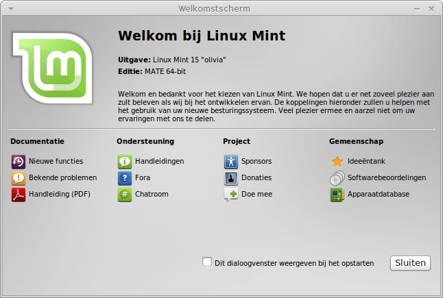 Linux Mint Mate 15