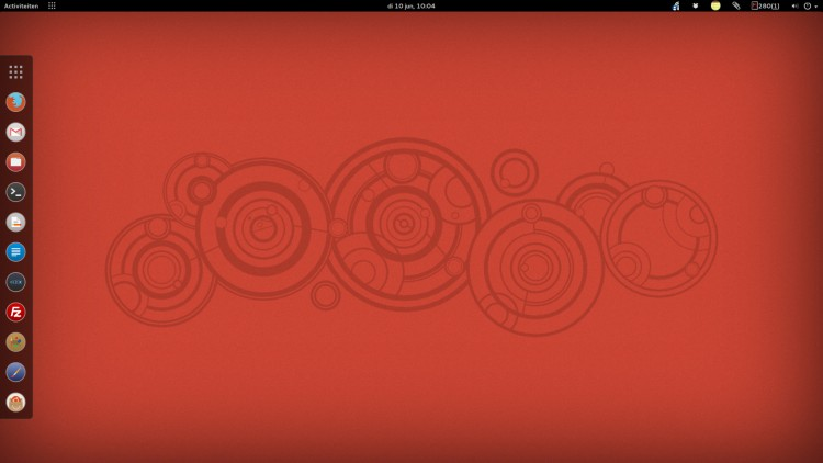 Ubuntu GNOME desktop met Faience Numix