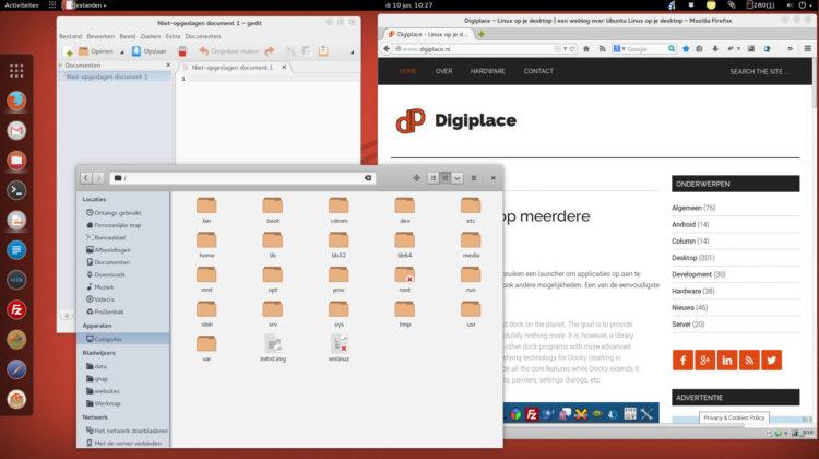 Desktop met Faienca en Numix