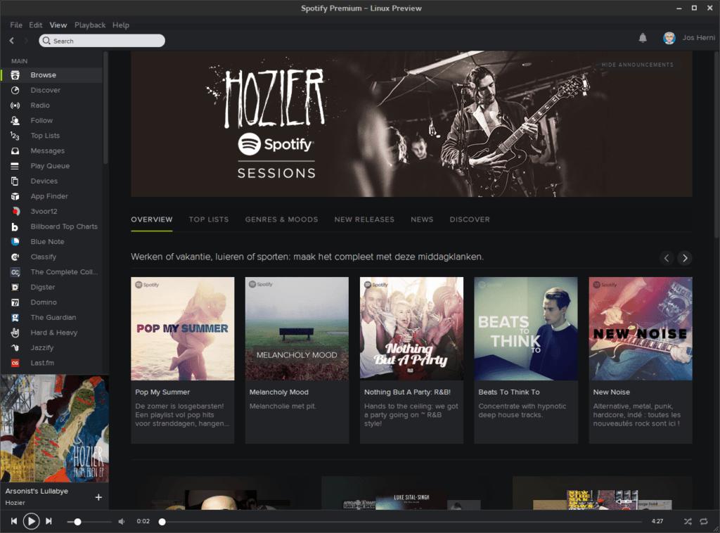 Installeer de laatste Spotify onder Fedora