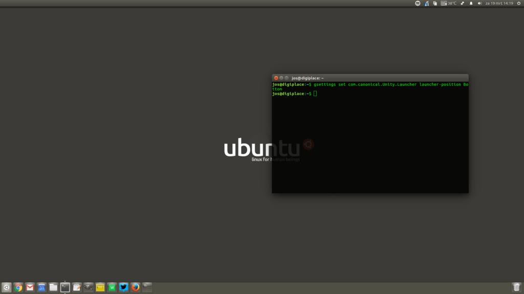 Ubuntu 16.04 brengt  Unity Launcher naar beneden